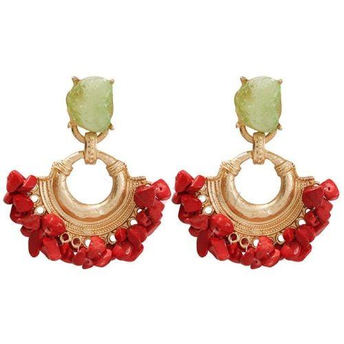 Alloy Gemmed Fashion Earrings