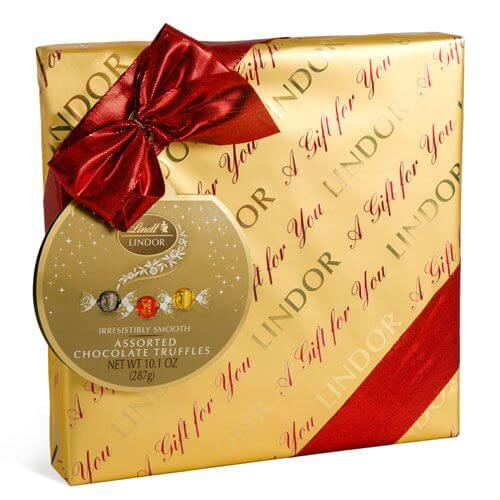 Assorted Holiday LINDOR Gift Wrapped Box (22-pc, 10.1 oz)