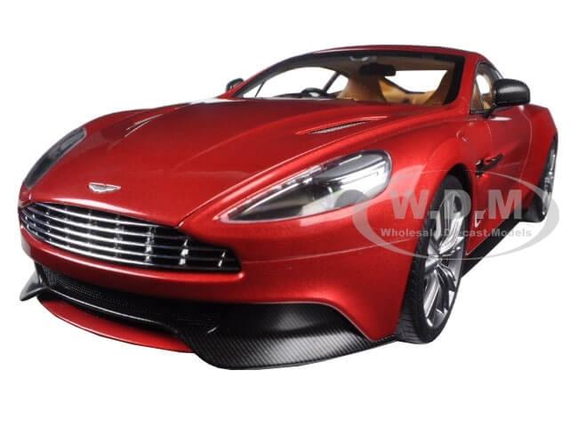 Aston Martin Vanquish Volcano Red 1-18 Model Car by Autoart