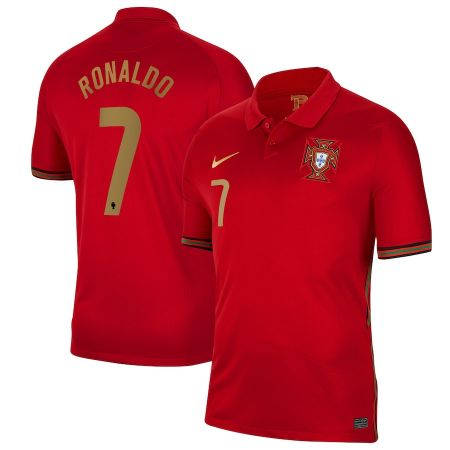 Portugal Home Stadium Shirt 2020-21 with Ronaldo 7 printing