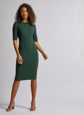 Tall Green Textured Bodycon Dress