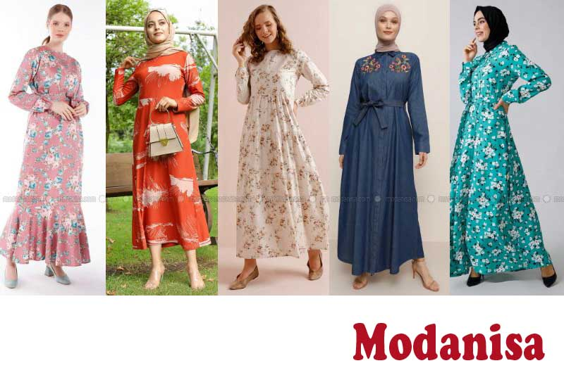 12 Best Selling Cotton Floral Dresses from Modanisa