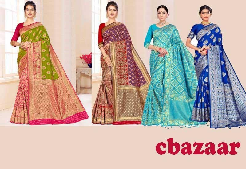 17 Best Selling Banarasi Sarees from cbazaar