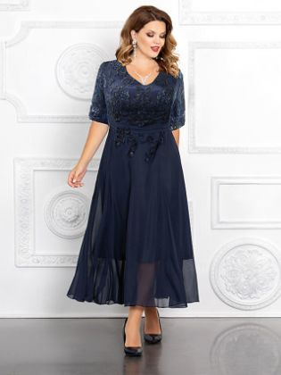 A-Line Mother of the Bride Dress Elegant Plus Size V Neck Ankle Length Chiffon Sequined Half Sleeve with Appliques 2020 Mother of the groom dresses