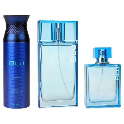 Ajmal Perfume Blu Gift Set For Men