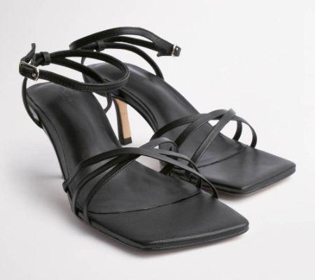 Alanna Black Nappa Heels
