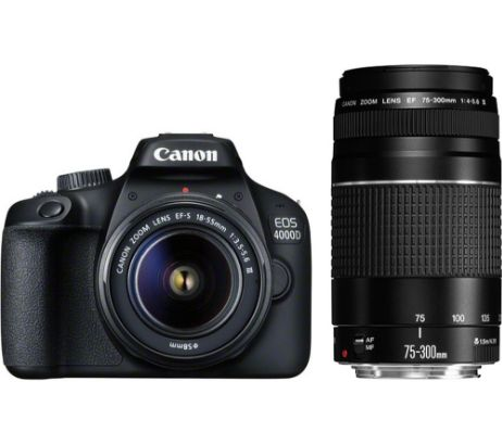 CANONEOS 4000D DSLR Camera with EF-S 18-55 mm