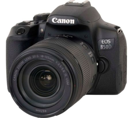 CANONEOS 850D DSLR Camera with EF-S 18-135 mm