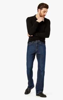 Charisma Relaxed Straight Jeans In Dark Cashmere