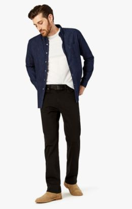 Charisma Relaxed Straight Pants In Select Double Black