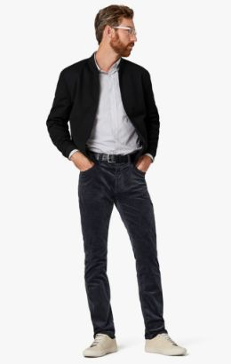 Charisma Relaxed Straight Pants in Iron Cord
