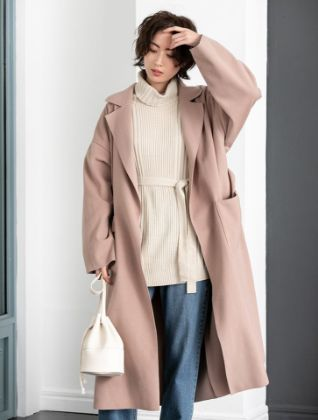 Fifth - Side slit light gown coat