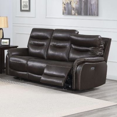 Fortuna Dark Brown 38-Inch Recliner Sofa