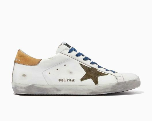Golden Goose Deluxe Brand - Super-Star Sneakers with Suede Star in Leather