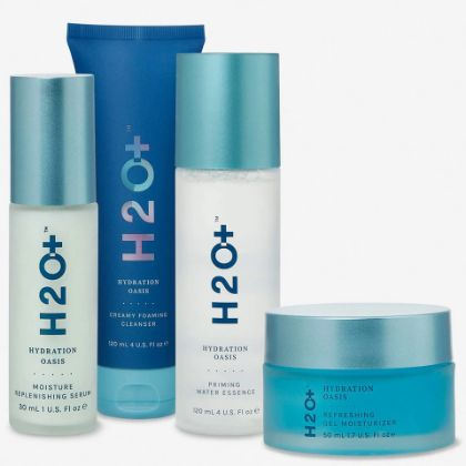 HYDRATION OASIS - COMPLETE 4-STEP - Includes Cleanser + Essence + Serum + Moisturizer.