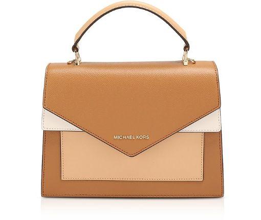 MICHAEL KORS - Brown Ludlow Medium Top Handle Bag