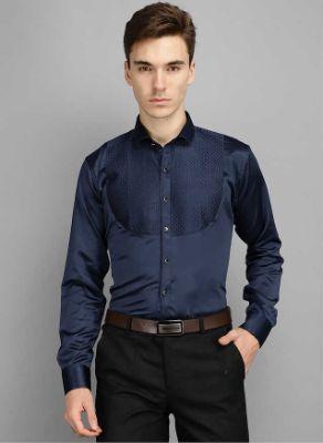 Men Kingsmode Navy Regular Fit Party Wear Shirt 3