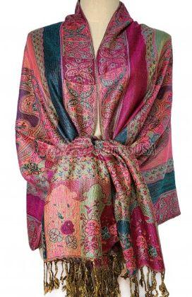 Paisley Flower Shawl Pink