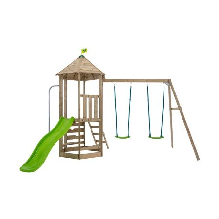 TP Castlewood Kennilworth Wooden Swing Set & Slide -FSC