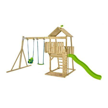 TP Kingswood Tudor Wooden Swing Set & Slide-FSC