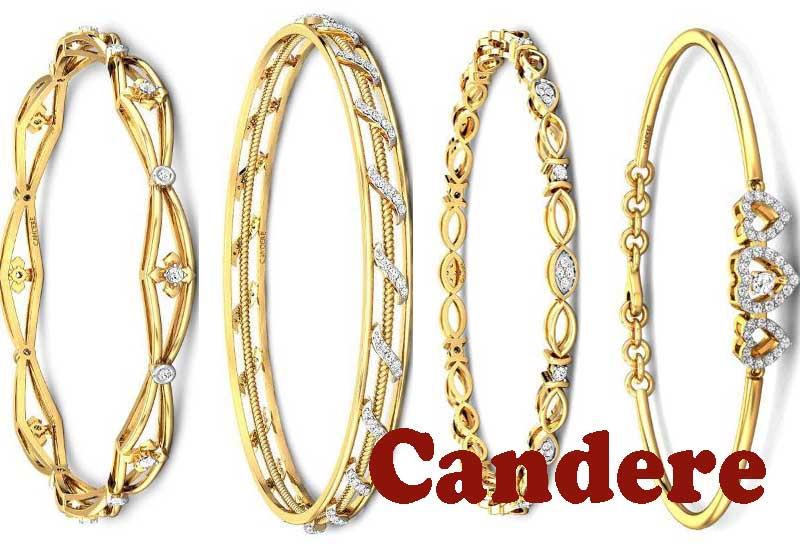 7 Best Selling Gold and Diamonds Bangles from Candere
