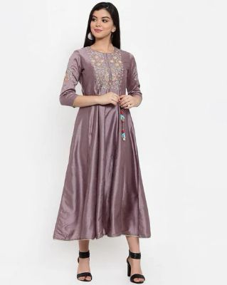 ANAISA - Embroidered Fit and Flare Dress with Tie-Up