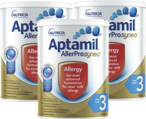 Aptamil Deeply Hydrolyzed Anti-allergic Eczema Milk Powder 3 Stage 2019 Edition 900g 3 Cans