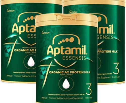Aptamil Essensis Miracle Green Organic A2 Infant Formula Milk Powder 3 Stages 1 Year Old and Over 900g 3 Cans