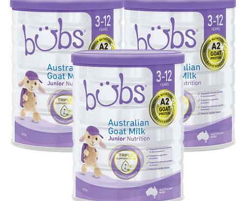Bubs Baby Goat Milk Powder 4 800g 3-12 Years Old 3 Cans