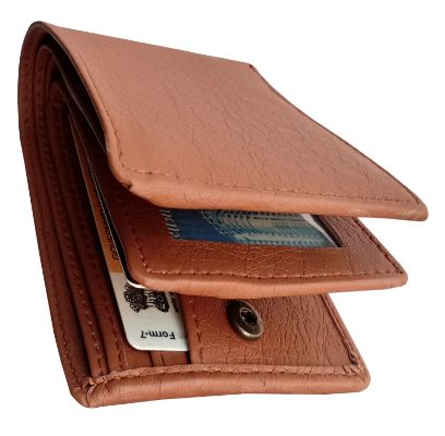 Excellent Pure Credit, ATM Pure Leather Card Holder Brown