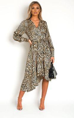 IKRUSH Melly Animal Print Maxi Dress LEOPARD