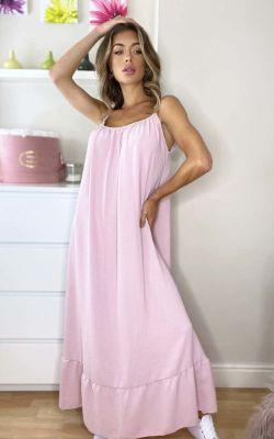 IKRUSH Tallulah Floaty Maxi Dress PINK