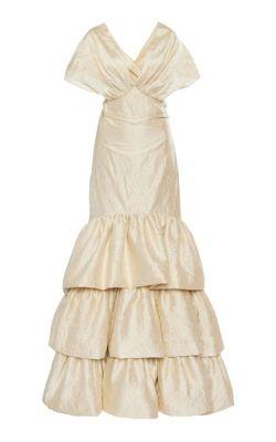 Johanna Ortiz - Corazon Coraza Convertible Silk Gown