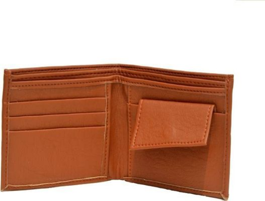 Light Weight Pure Leather Wallet for Men(Tan)