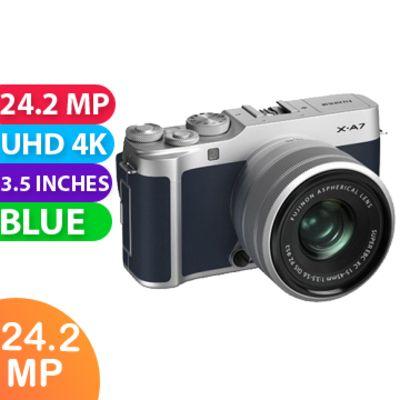 New Fujifilm X-A7 kit (15-45mm) Navy Blue Camera