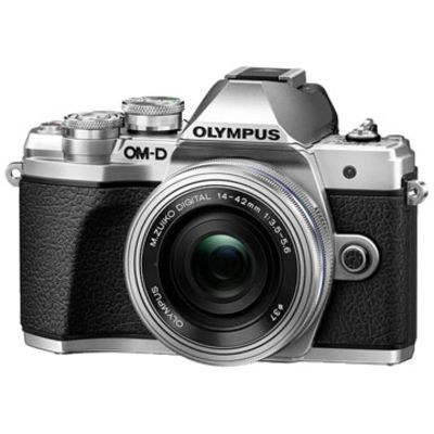 New Olympus OM-D E-M10 MK III (14-42 EZ) Digital Cameras Silver