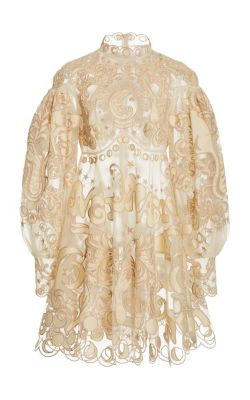 Zimmermann - Ladybeetle Fortune Appliquéd Tulle Mini Dress