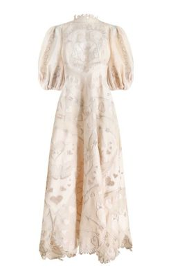 Zimmermann - The Lovestruck Silk-Linen Lace Gown