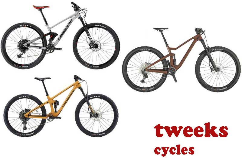 4 Awesome Full Suspension Bikes from tweeks cycles