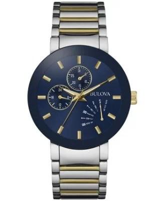 Bulova - Men's Futuro Two-Tone Stainless Steel Bracelet Watch 40mm