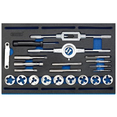 Draper Combination Tap And Die Set - Metric And BSP In EVA Foam Insert Tray (22 Piece)