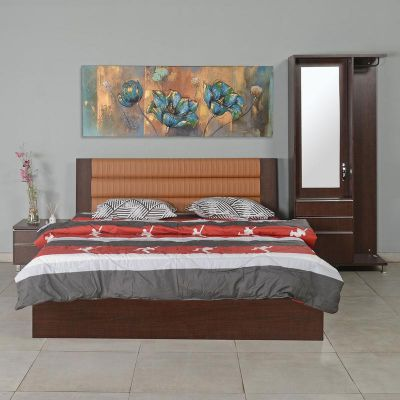 Nilkamal Delhi King Bed (Brown Maple)