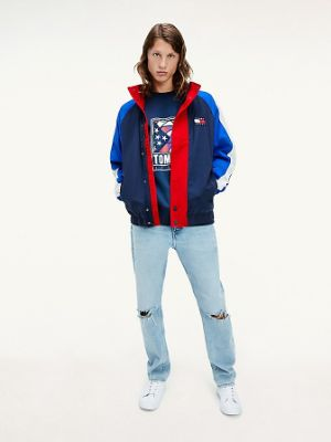TOMMY JEANS - ORGANIC COTTON BADGE COLORBLOCK JACKET