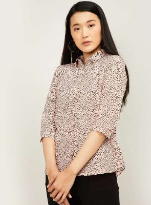 VAN HEUSEN Women Animal Print Casual Shirt