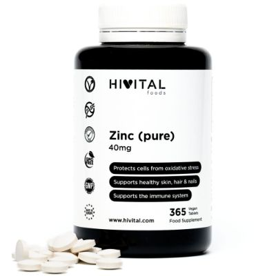 ZINC PURE 40MG | 365 VEGAN TABLETS
