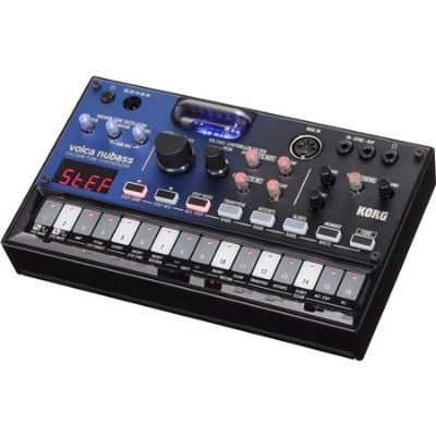 Korg Volca Nubass Vacuum Tube Bass Synthesizer with 16-Step Sequencer