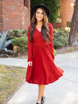 The Isla Dress - Red