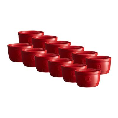 EMILE HENRY - Ramekin Set - Set of 12 - Red