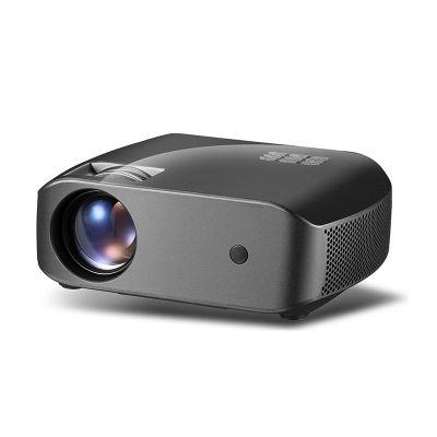 F10 Full HD Home Multimedia Video Game LED Beamer with 2800 Lumens Brightness HDMI/USB/3.5mm Audio/DC/IR black_EU Plug