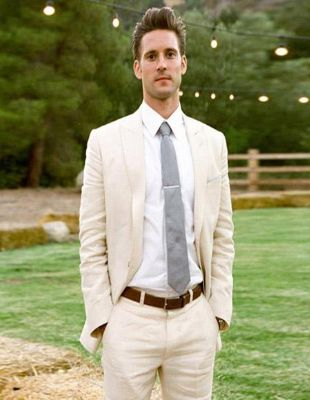 Linen For Beach Wedding Outfit Off White Suit Fabric Ivory Cream 2 Button Suit